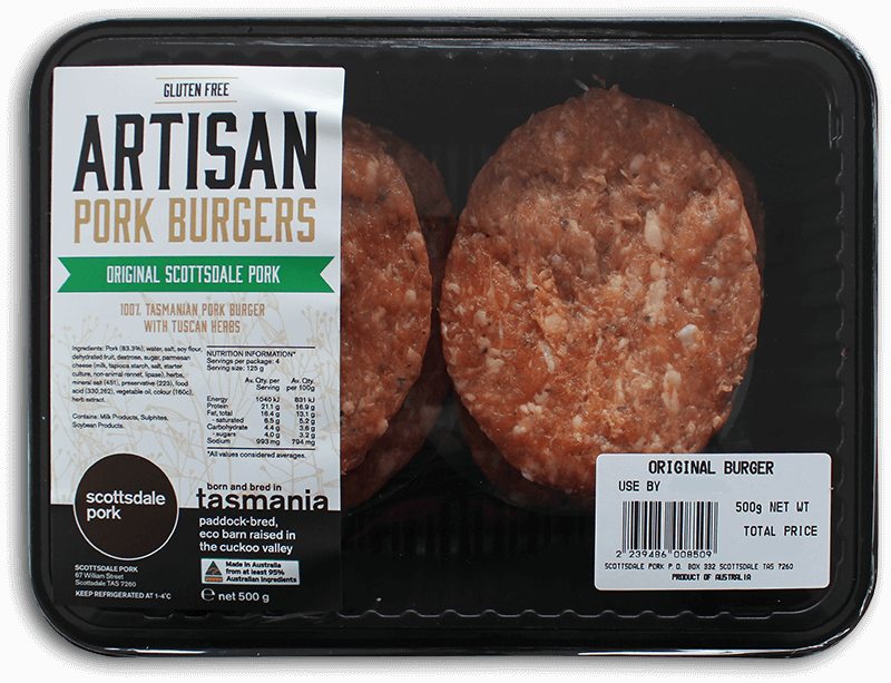 Original Scottsdale Pork Burgers