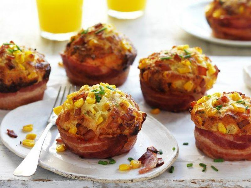 Bacon & Sweetcorn Breakfast Muffins