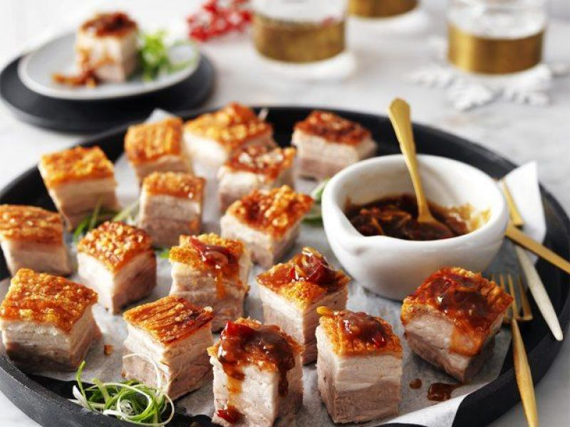 Crispy Pork Belly with Sticky Tamarind & Chilli Jam