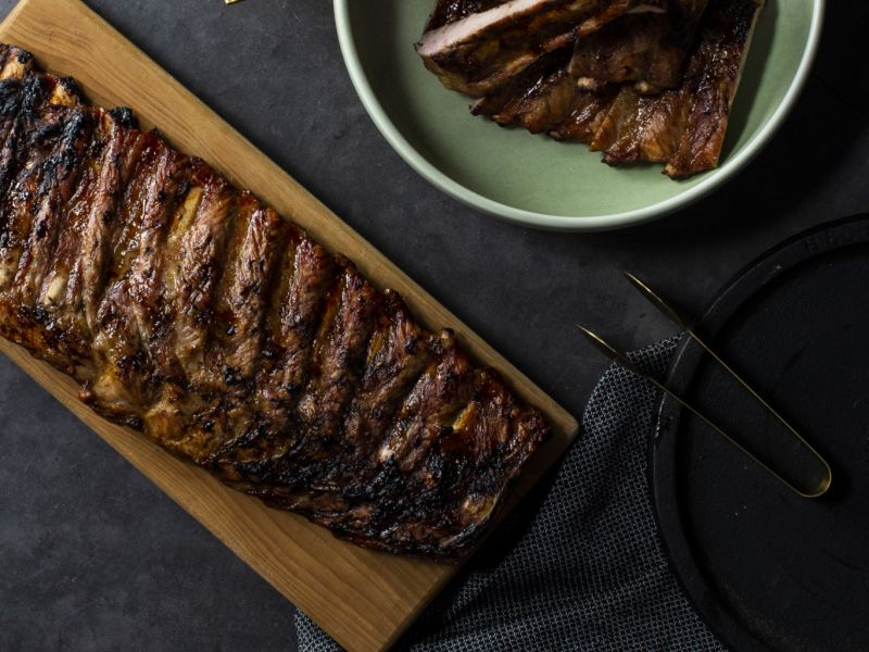 Slow Cooked Smoky Pork Ribs