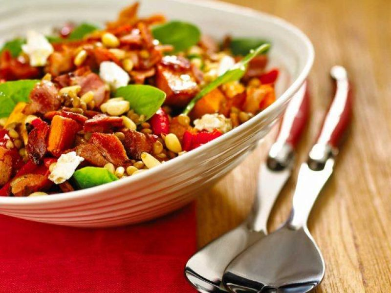 Bacon and Lentil Salad