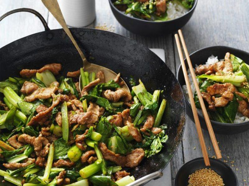 Five Spice Pork & Asian Green Stir Fry