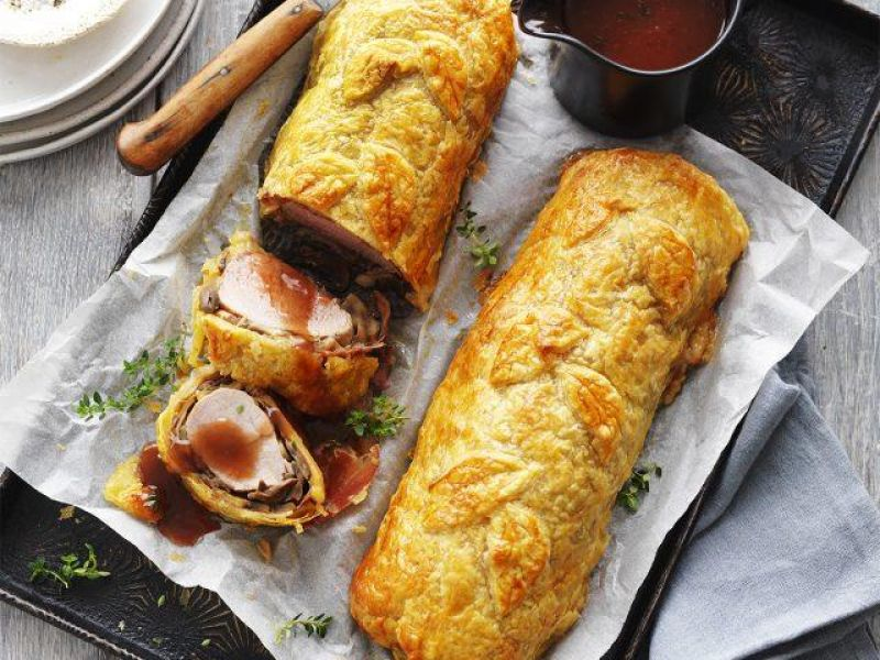 Pork Wellingtons with Marsala Sauce
